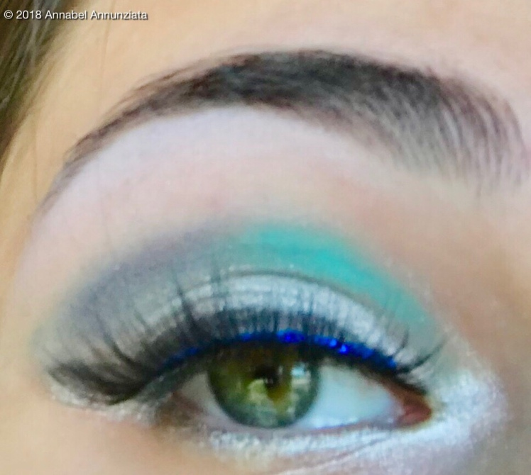 Turquoise And Silver Eyeshadow Look Annabel Annunziata